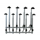 Staggered Wall 9 Bottle Rack ( 70 cl/ 1 Litre)