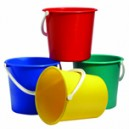 Blue Plastic Bucket 9 Ltr