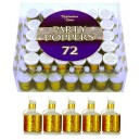 Gold Holographic Party Poppers Per 72