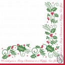 Holly and Ivy 33cm 2 Ply Serviettes